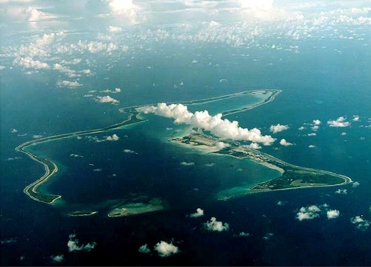 Diego Garcia, the largest island in the Chagos archipelago and site of a major United States military base in the middle of the Indian Ocean leased from Britain in 1966. (File photo)