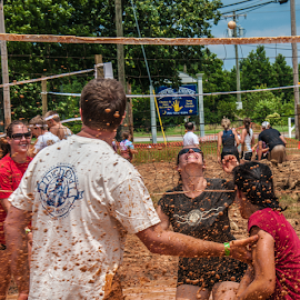 by Myra Brizendine Wilson - Sports & Fitness Other Sports ( mud volleyball, teams, mud, people )
