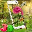 3D Rose Parallax Theme🌹 icon