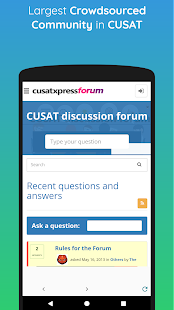 CUSAT Forums- screenshot thumbnail
