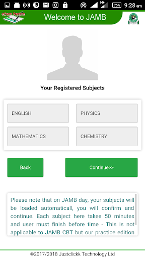 JAMB CBT PRACTICE 2018 1.1.2 screenshots 2
