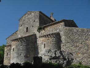 Photo: According to the Michelin Guide, its 5th century Romanesque church is built ...
