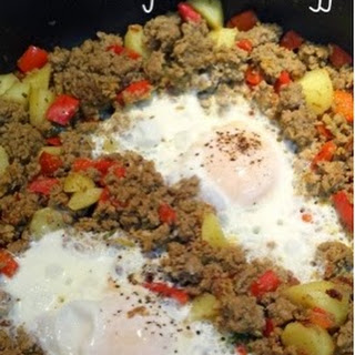 Ground Turkey Hash n' Fried Eggs.