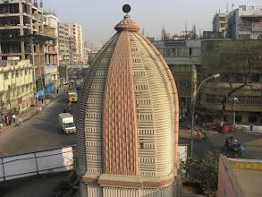 Photo: The peak of the Temple of Prabhu Jagadbandhu Mahaprakash Math built in 2003