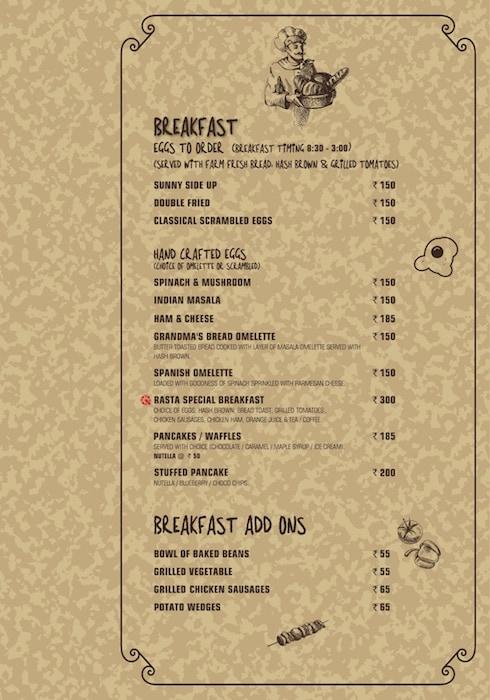 Rasta Cafe menu 2