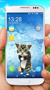 Funny cat on screen. Prank app. - náhled