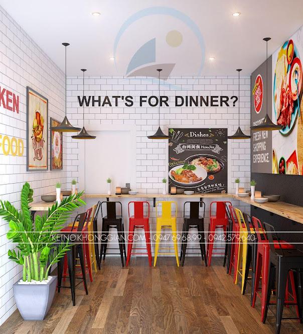 thiết kế cửa hàng gà rán đài loan 11
