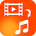 Video to Mp3 Audio Converter App - Audio Extractor icon
