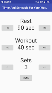 Timer And Schedule For Your Workout - náhled