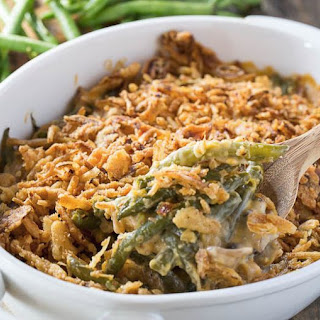 How to Make Healthy Cheesy Green Bean Casserole Lunch