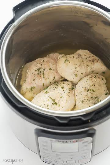 How to Cook Frozen Chicken Breasts in the Instant Pot (pressure cooker)