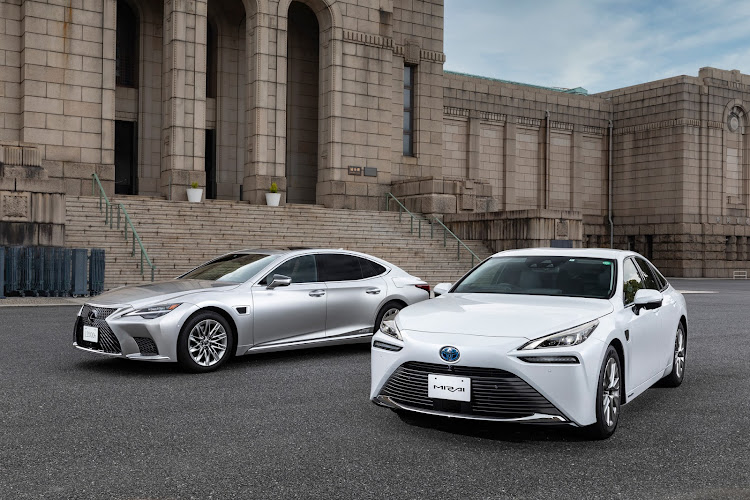 The new Lexus LS (left) and Toyota Mirai now feature 'Advanced Drive' – a level 2 autonomous driving system.