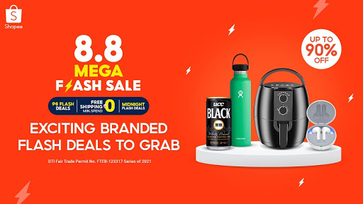 Huge Price Drops from Your Favorite Brands at the Shopee 8.8 Mega Flash Sale