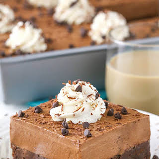 Baileys Chocolate Mousse Brownie Cake.