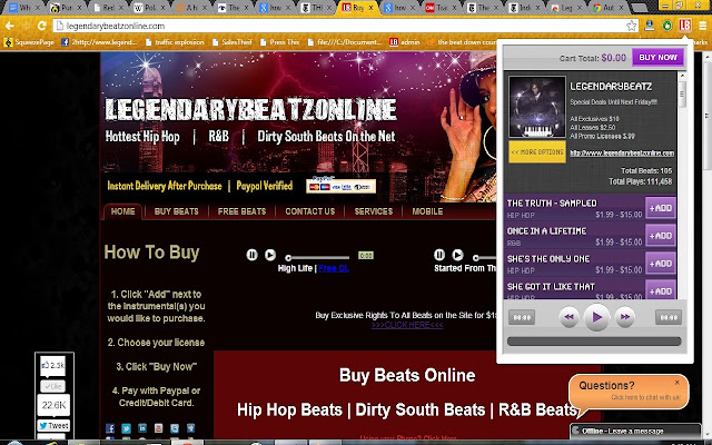 LegendaryBeatz Beat Store