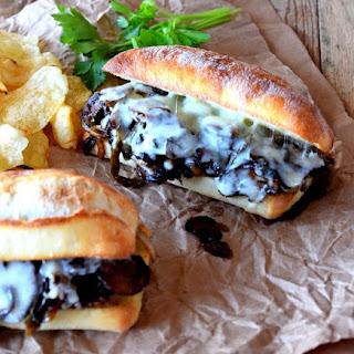 Philly Sautéed Mushroom Cheesesteak Sandwich