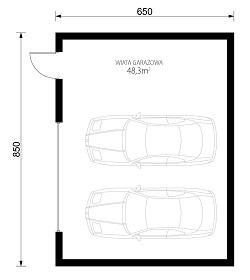 W23-G27 - Rzut garażu