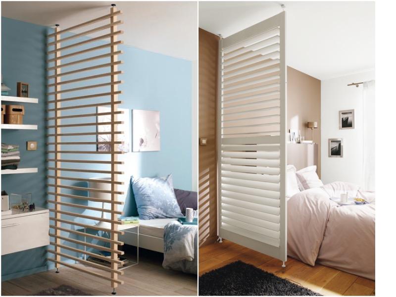 separar ambientes con paneles de madera