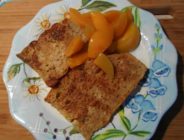 Whole Wheat- French Toast W/ Canned  Peaches Recipe