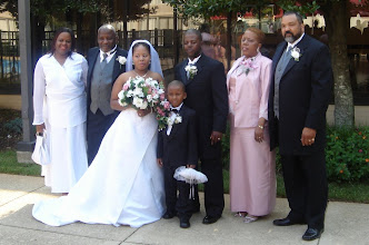 Photo: Tanesha & Rashid with her parents and step-parents.