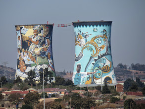 Photo: back of the old power plant- Orland Towers, Soweto, South Africa