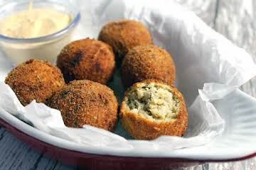 Boudin Balls & Spicy Creole Dip My Way