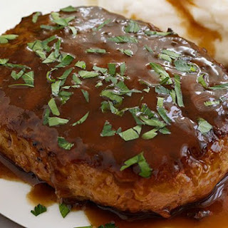 A Recipe for Salisbury Steak With French Fried Onions and Tasty Sauce