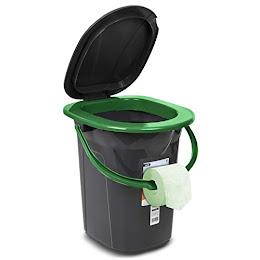Toaleta portabila turistica camping GreenBlue, GB320BL-BG, 19 litri