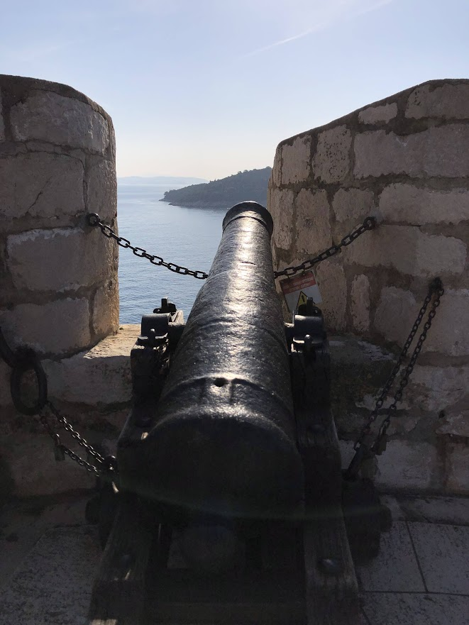 Dubrovnik city walls cannon