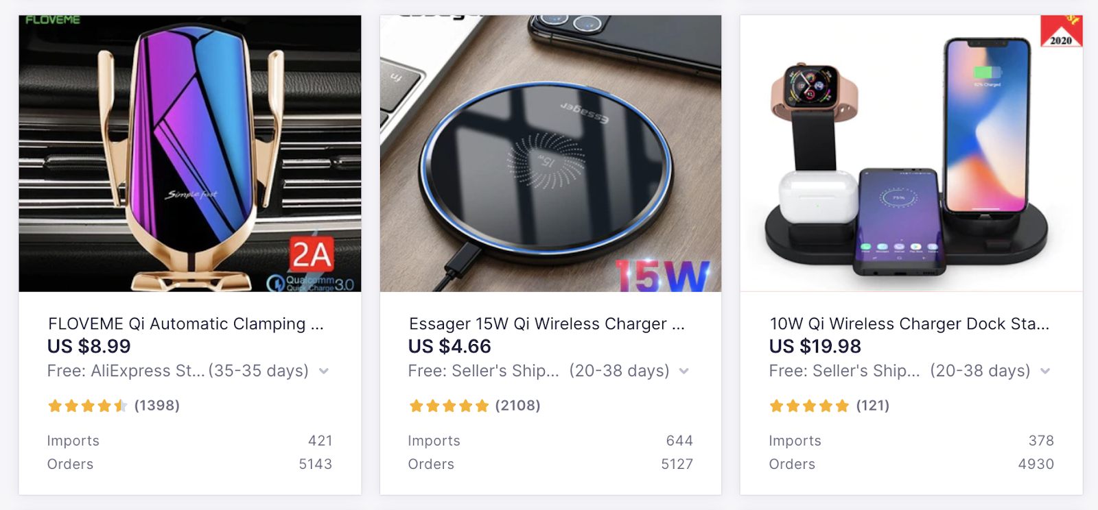 In-Demand Products to Sell with Oberlo: Wireless Phone Chargers