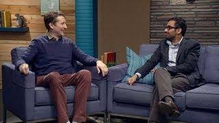 Aziz Ansari Wears a Charcoal Blazer