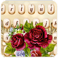 Luxurious Golden Rose Keyboard