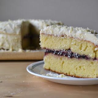 Lemon Cake with Vanilla Buttercream and White Chocolate