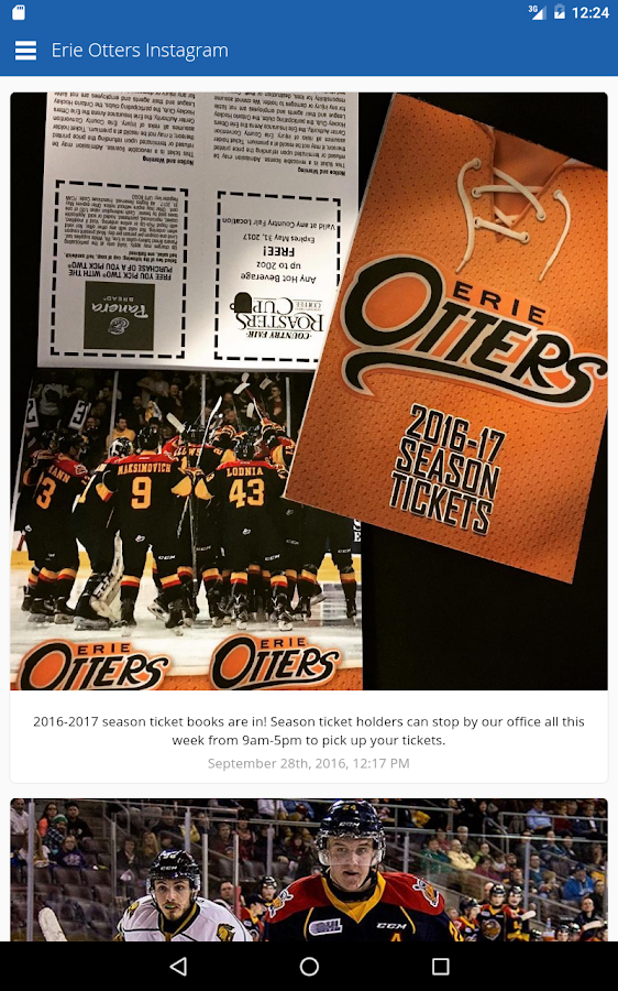 Erie Otters Mobile- screenshot