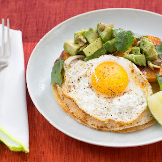 Winter Squash & Baby Kale Quesadillas with Queso Oaxaca & Sunny Side-Up Eggs.