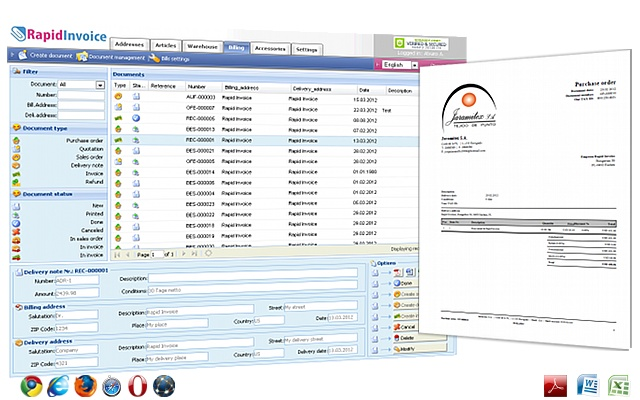 rapid invoice free online billing invoicing chrome web store