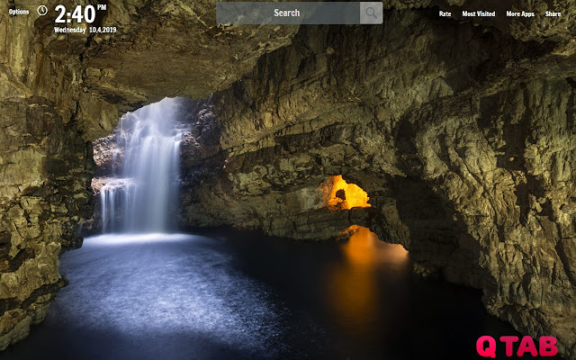 Amazing Cave New Tab Wallpapers