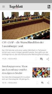 Tageblatt, News Lëtzebuerg - náhled