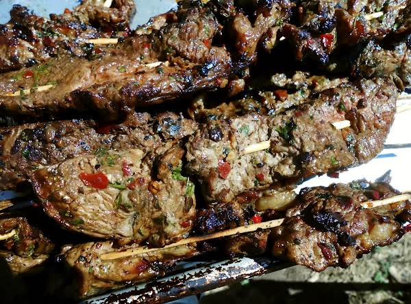 Grilled Beef Skewers With Low Sodium Marinade Recipe