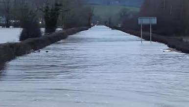 Oh no! Floods return to cause Welshpool chaos again