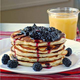 Oatmeal-Yogurt Pancakes with Blackberry Crush
