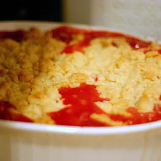 Strawberry-Rhubarb Crumble.