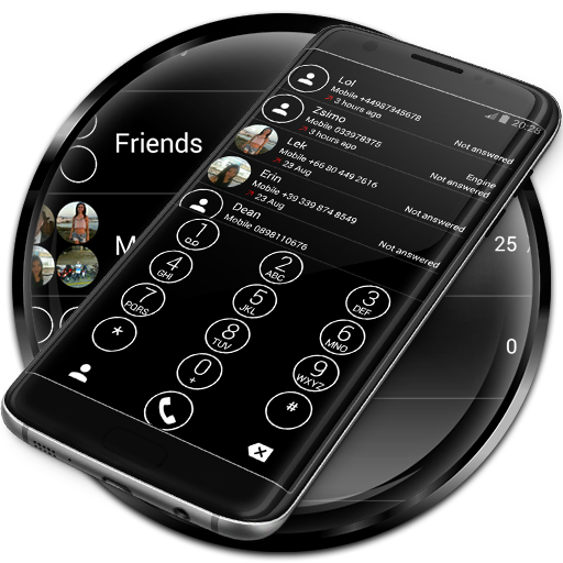 Dialer Circle BlackWhite Theme Android APK Download Free By ZT.art