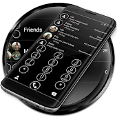 Dialer Circle BlackWhite Theme