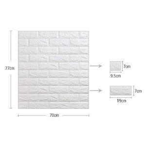 Set 5 x Placa de tapet adeziv caramizi, Stone Bricks 4, 77x70 cm