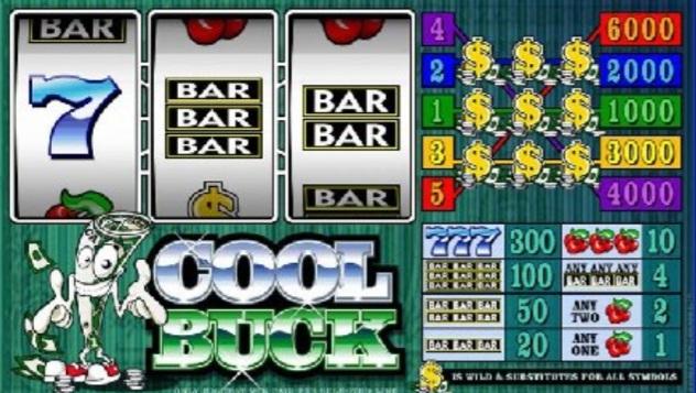 Microgaming's cool buck classic slot game screenshot