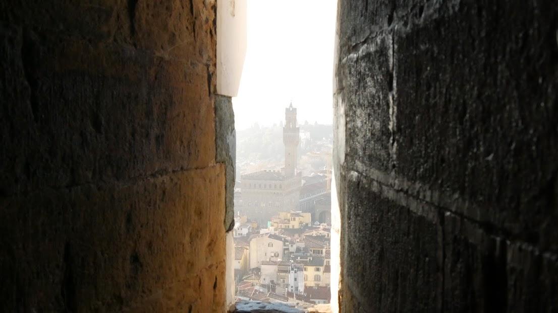 ジョットの鐘楼から見えるベッキオ宮殿
