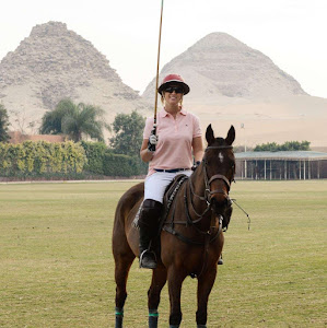 Woman Polo Player in Cairo Egypt