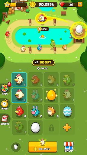 Télécharger Merge Chicken - Idle Tycoon apk mod screenshots 5