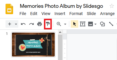 Paint format tool in Google Slides